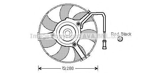 Вентилятор охлаждения AVA AI7504