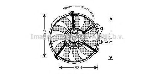 Вентилятор, охлаждение двигателя AVA AI7507