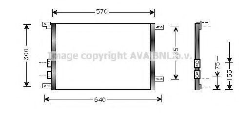 Радиатор кондиционера AVA AL 5070