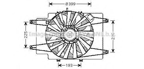 Вентилятор, охлаждение двигателя AVA AL7506