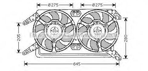 Вентилятор, охлаждение двигателя AVA AL7507