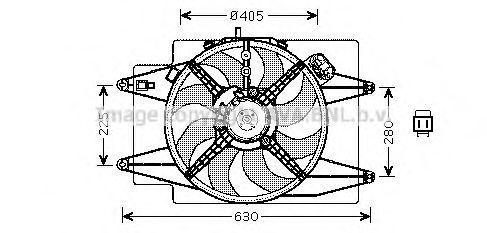 Вентилятор, охлаждение двигателя AVA AL7509