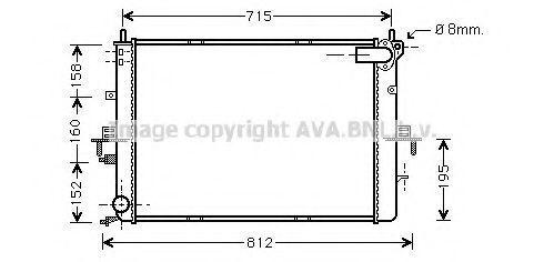 Радиатор охлаждения AVA AU2152