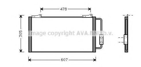 Радиатор кондиционера AVA AU5139