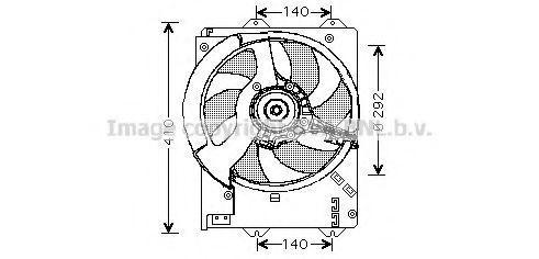 Вентилятор, охлаждение двигателя AVA AU7502