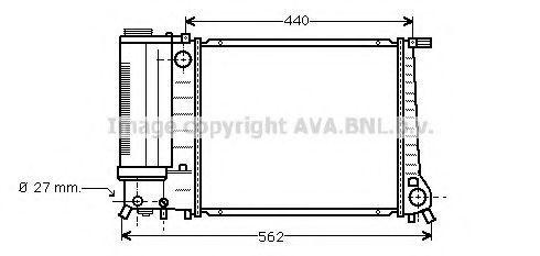 Радиатор охлаждения AVA BW2081