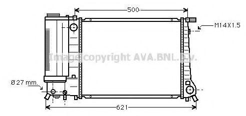 Радиатор охлаждения AVA BW2083