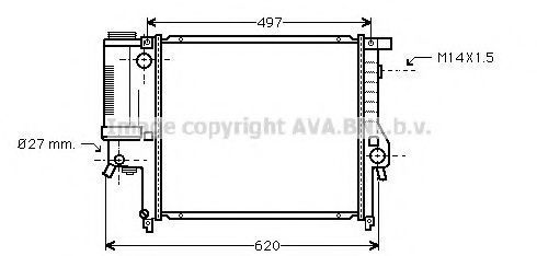 Радиатор охлаждения AVA BW2124