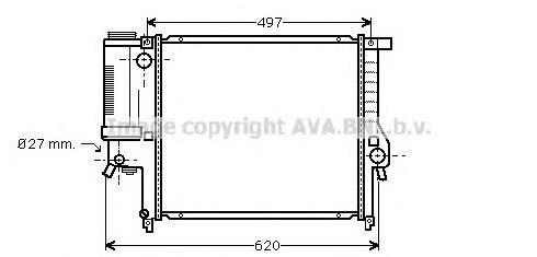 Радиатор охлаждения AVA BW2139