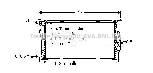 Радиатор охлаждения AVA BW2293