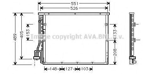 Радиатор кондиционера AVA BW 5148