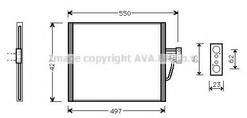 Радиатор кондиционера AVA BW5213