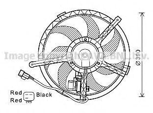 Вентилятор, охлаждение двигателя AVA BW7534
