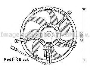 Вентилятор, охлаждение двигателя AVA BW7535