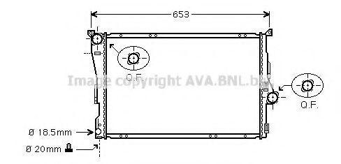 Радиатор охлаждения AVA BWA2205