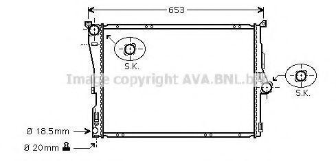 Радиатор охлаждения AVA BWA2289