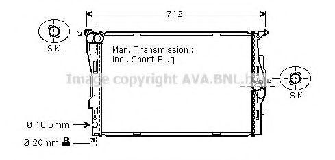 Радиатор охлаждения AVA BWA2291