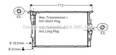 Радиатор охлаждения AVA BWA2292