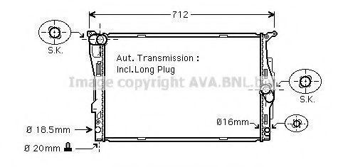 Радиатор охлаждения AVA BWA2303