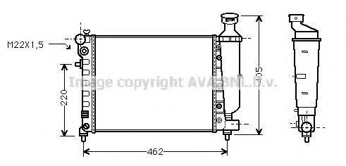 Радиатор охлаждения AVA CN2115