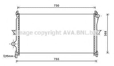 Радиатор охлаждения AVA CN2278