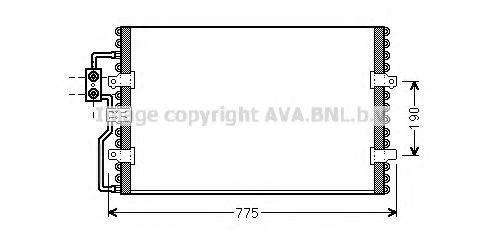 Радиатор кондиционера AVA CN5093