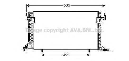 Радиатор кондиционера AVA CN5100
