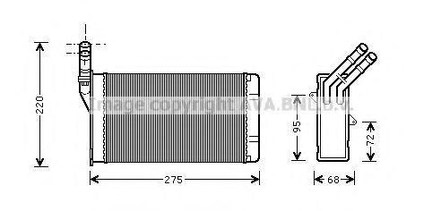 Радиатор отопителя салона AVA CN6055