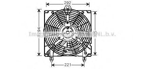Вентилятор, охлаждение двигателя AVA CN7517