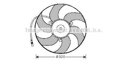 Вентилятор, охлаждение двигателя AVA CN7519