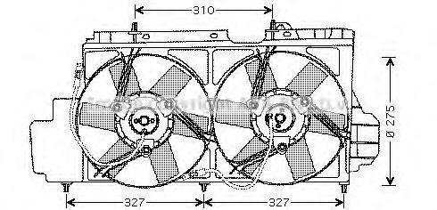Вентилятор, охлаждение двигателя AVA CN7520