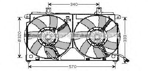 Вентилятор, охлаждение двигателя AVA CN7523