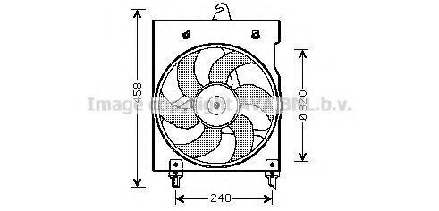 Вентилятор, охлаждение двигателя AVA CN7524