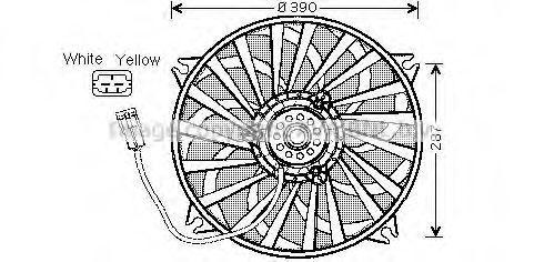 Вентилятор, охлаждение двигателя AVA CN7526