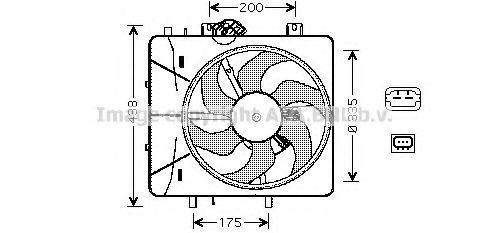 Вентилятор радиатора AVA CN7527