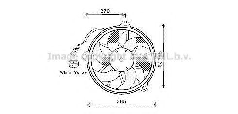 Вентилятор, охлаждение двигателя AVA CN7536
