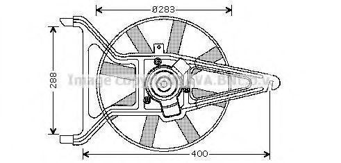 Вентилятор, охлаждение двигателя AVA CN7539