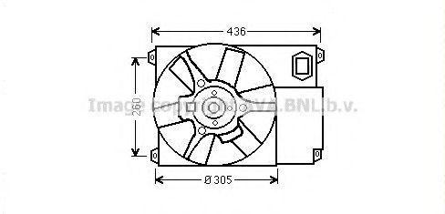 Вентилятор охлаждения с диффузором AVA CN7541
