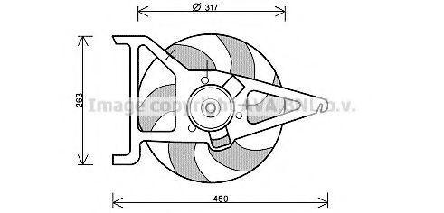 Вентилятор, охлаждение двигателя AVA CN7544