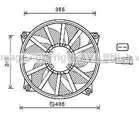 Вентилятор, охлаждение двигателя AVA CN7552
