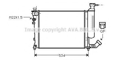 Радиатор охлаждения AVA CNA2059
