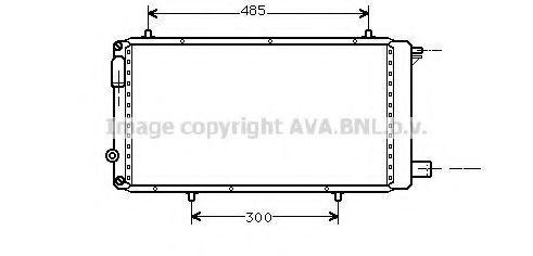 Радиатор охлаждения AVA CNA2073