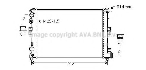 Радиатор охлаждения AVA CNA2079