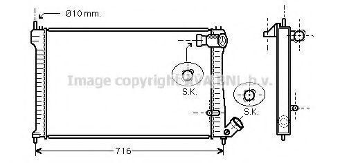 Радиатор охлаждения AVA CNA2102
