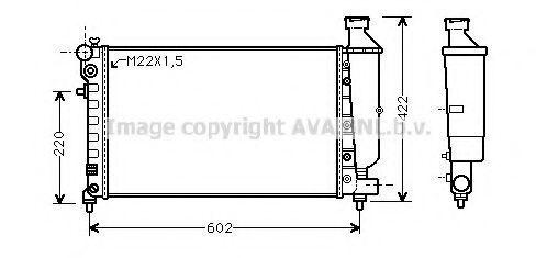Радиатор охлаждения AVA CNA2116