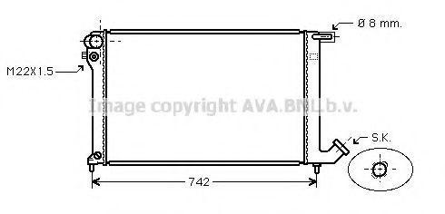 Радиатор охлаждения AVA CNA2137