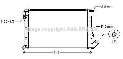 Радиатор охлаждения AVA CNA2153