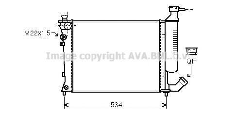 Радиатор охлаждения AVA CNA2154