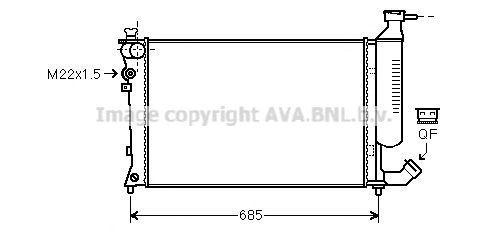 Радиатор охлаждения AVA CNA2155