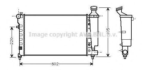 Радиатор охлаждения AVA CNA2196